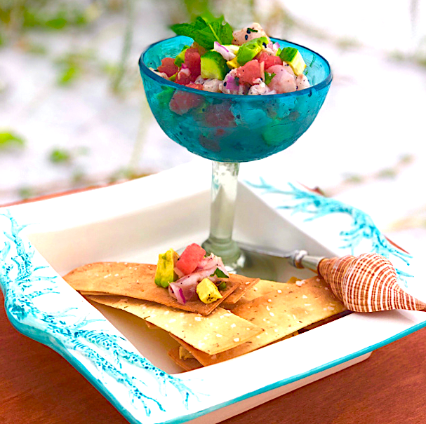 Snapper Ceviche from Maro's Cooking.